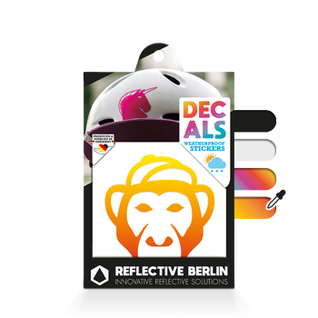 Reflective Decal - Monkey image