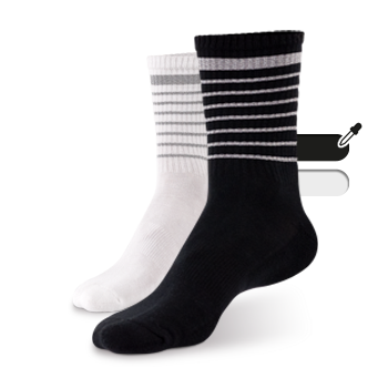 Reflective SOCKS (black) image