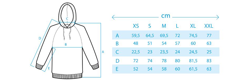 Maße für Sweater