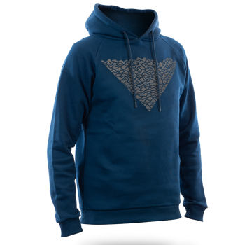 Reflective HOODIE: Waves (navy blue) image