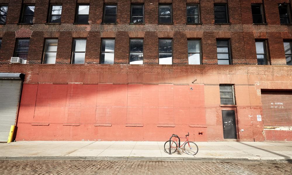 Platz für Fahrrad und Gedanken